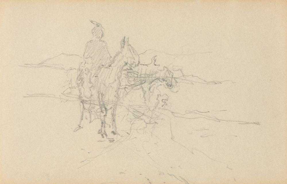 E. I. Couse, Untitled (Indian Rider)