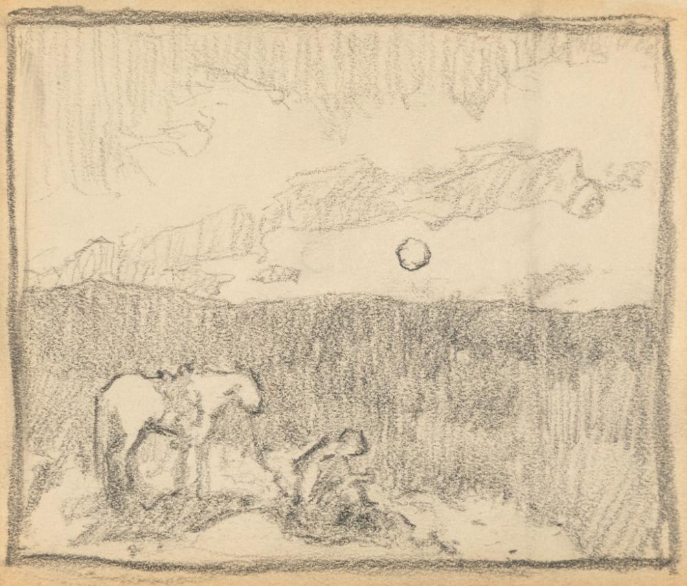 E. I. Couse, Untitled (Making Camp)