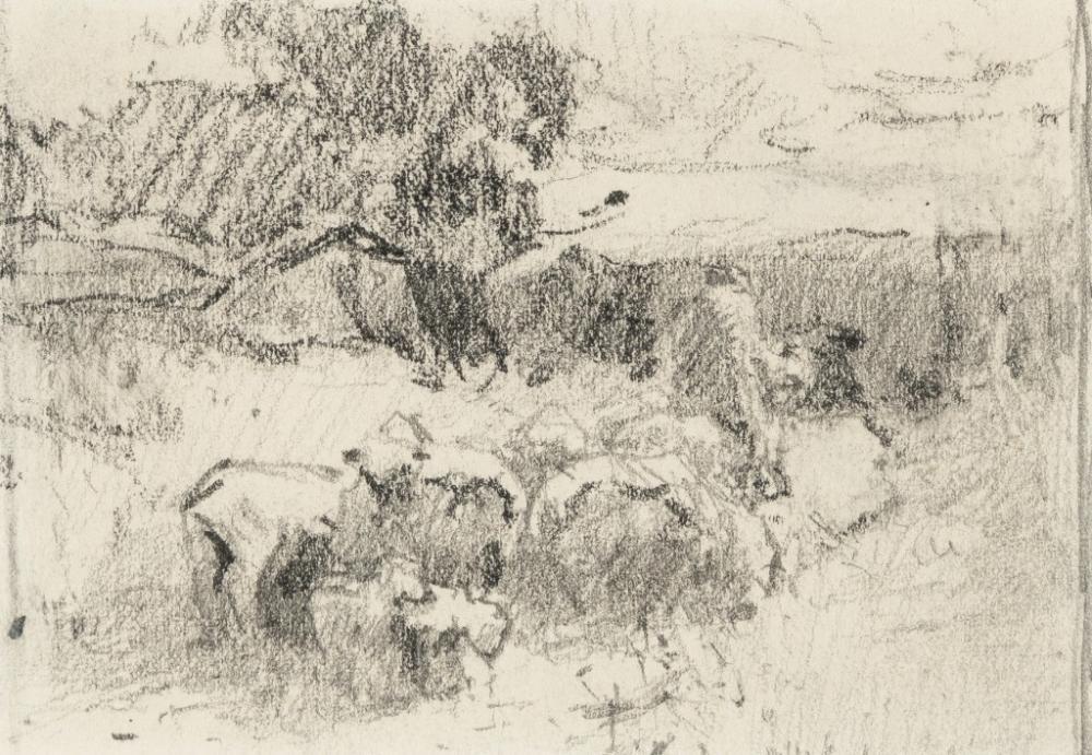 E. I. Couse, Untitled (Countryside)