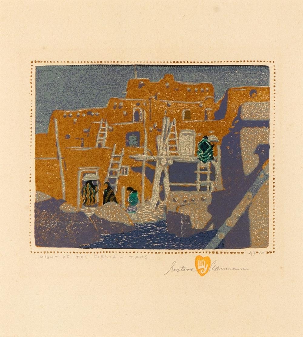 Gustave Baumann, Night of the Fiesta - Taos, 1924
