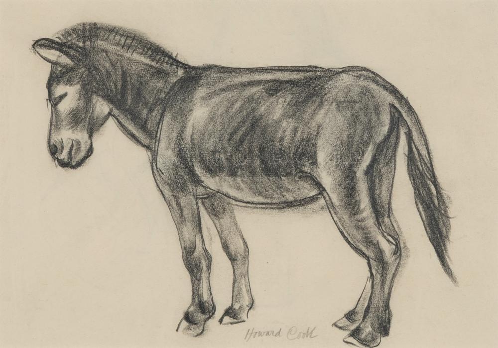 Howard Cook, Untitled (Burro)