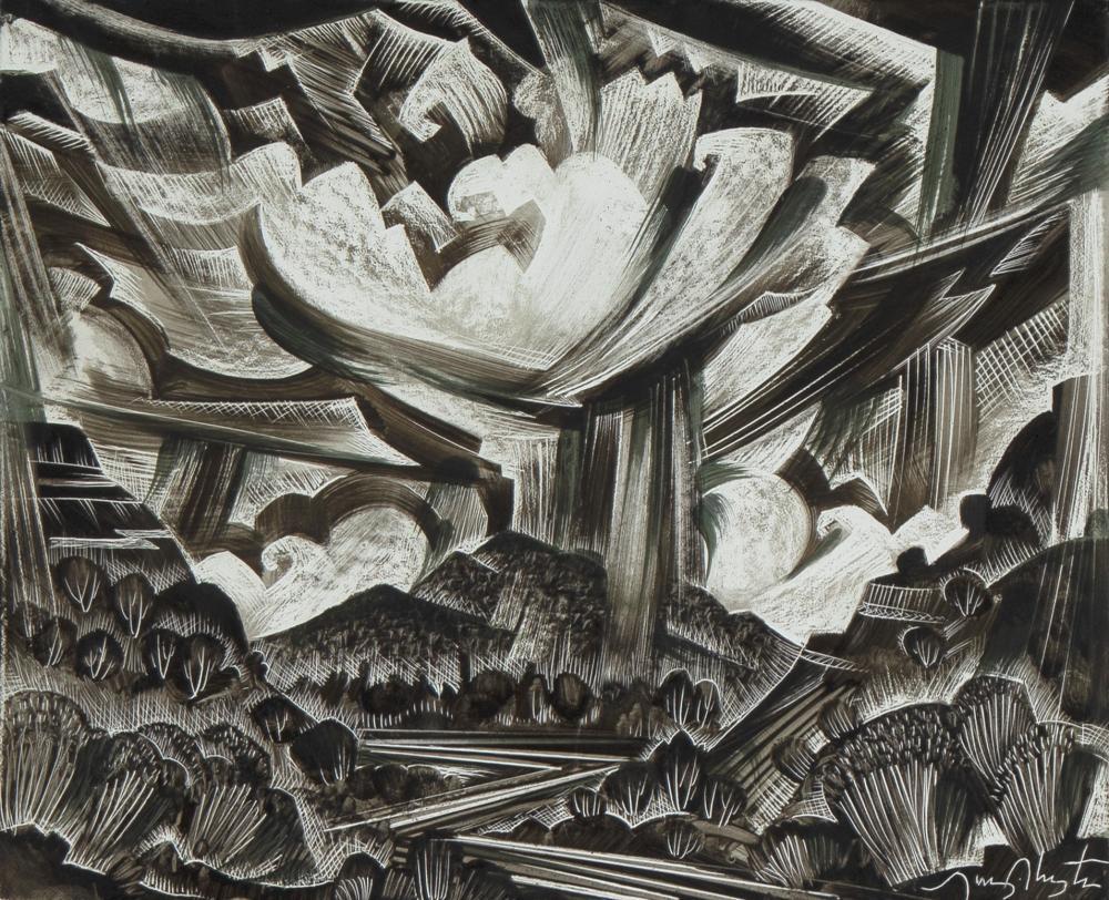 Tony Abeyta, Untitled (Stormy Landscape)