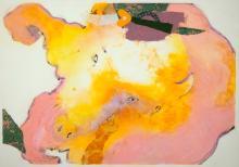 Armond Lara, Untitled (Pink and Yellow), 1989