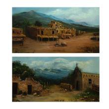 William T. Turman, Taos Pueblo (Pair)