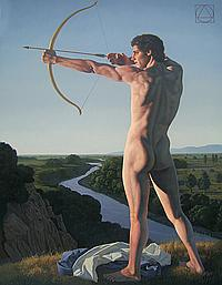 David Ligare Archer Aiming at the Sun, 2004
