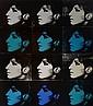 Deborah Kass12 Barbara's (Black, Turquoise, White), 1993