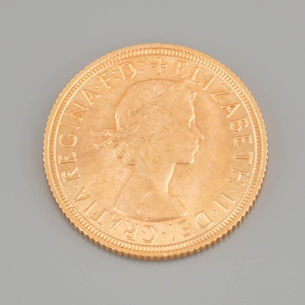 """""""Queen Elizabeth"""" Gold Pound, 1958"""