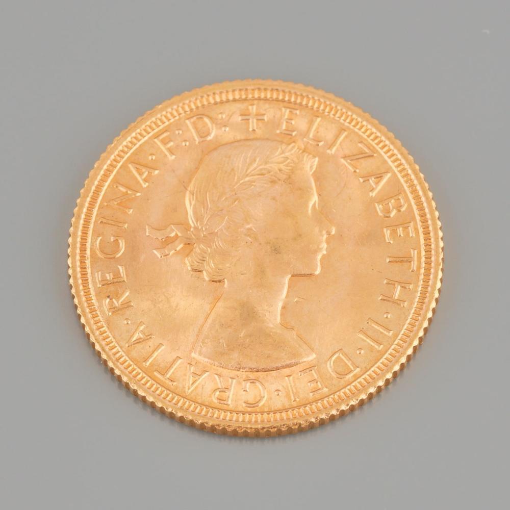 """""""Queen Elizabeth"""" Gold Pound, 1963"""