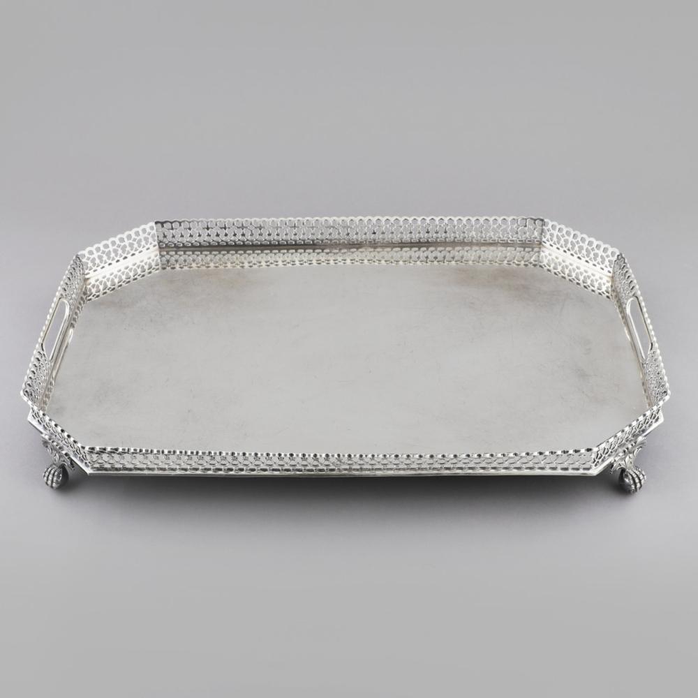 """Portuguese Silver Tray """"Gradinha"""""""