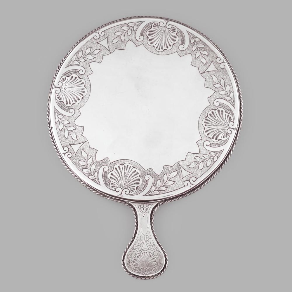 "Silver hand mirror ""J.A. Costa, Lda."""