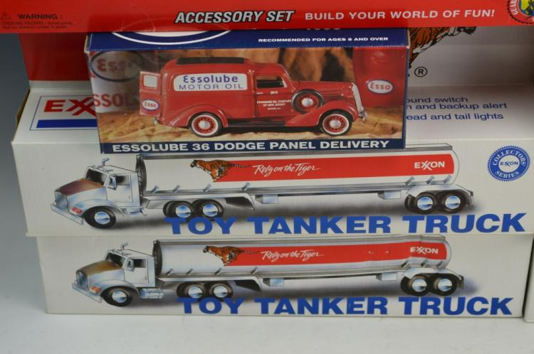 Tonka and Exxon Toy Truck Grouping