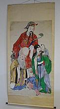 Large Handpainted Chinese Scroll