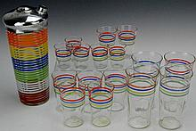Vintage Bar Ware Grouping