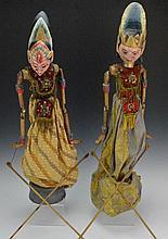 Indonesian Wayang Golek Puppet Grouping
