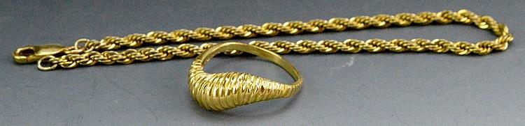 14k YG RIng and Bracelet Grouping