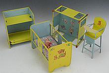 J. Chein Tin Doll Furniture