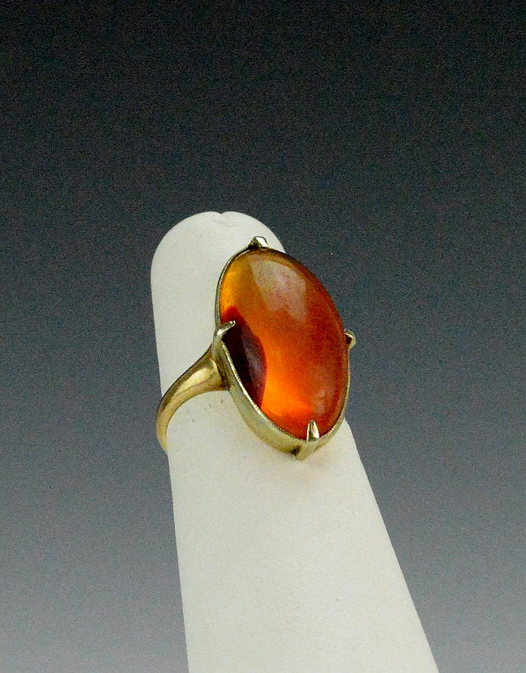 10k YG and Amber Ring