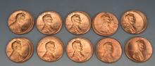 Off Center Lincoln Cent Error Grouping (10%)