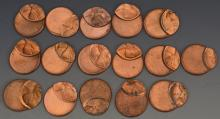 Off Center Lincoln Cent Error Grouping (75%)