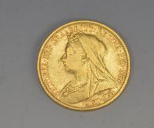 1898 Gold Half Sovereign