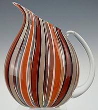 Michael Egan Art Glass Pitcher