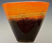 Art Glass Decorative Tall Bowl