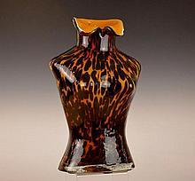 Leopard Glass Female Bust Vase