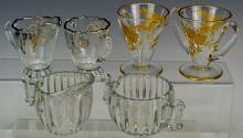 Depression Glass Sugar Bowl and Creamer Grouping