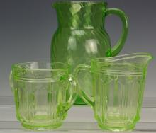 Green Depression Glass Grouping