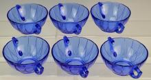 Blue Depression Glass Berry Bowl Grouping