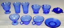 Cobalt Blue Depression Glass Grouping