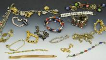 Costume Jewelry Bracelet Grouping
