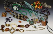 Costume Jewelry Necklace Grouping