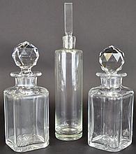 Cut Glass Decanters Lot Val St. Lambert Quality