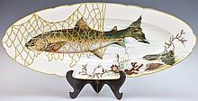 Hand Painted Porcelain Fish Platter