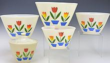 Fire King Tulip Mixing Bowl Set