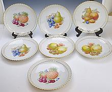 Schumann Painted Porcelain Plates