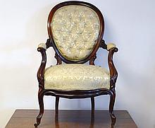 Victorian Walnut Arm Chair
