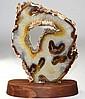 Agate Slice with Quartz