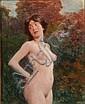 Margitay, Tihamér von - Weiblicher Akt in Parklandschaft, Tihamér Margitay, Click for value