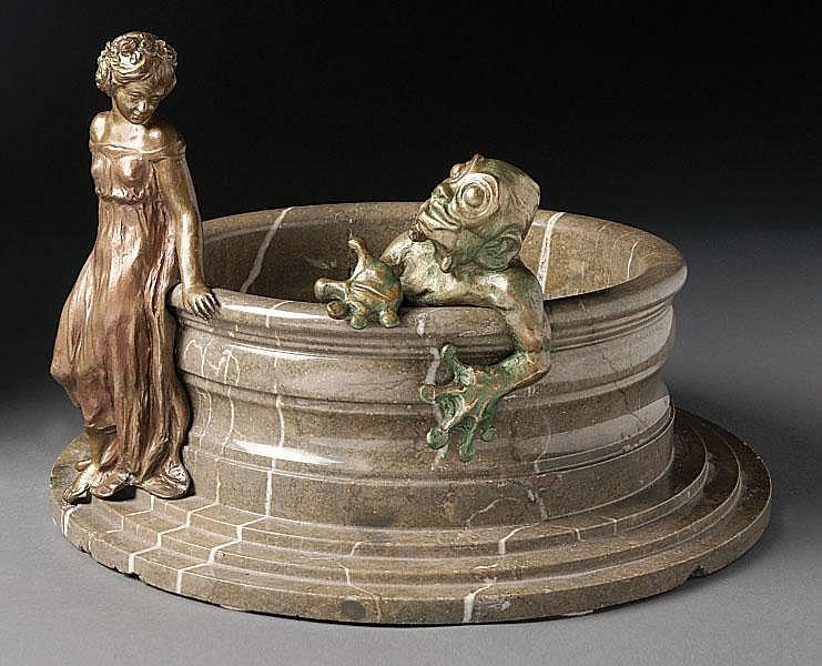 Rous, František - Cachepot in Form eines Brunnens
