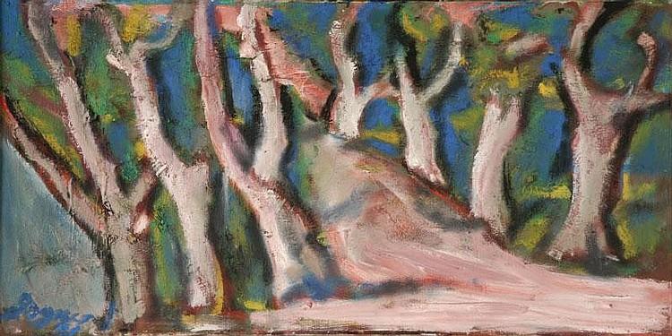 Degner, Artur - Landschaft mit Bäumen