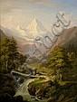 Winterlin, Anton Jungfraumassiv mit Wasserfall, Anton Winterlin, Click for value