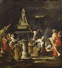 Sagrestani, Giovanni Camillo:—Biblische Szene—(Flo