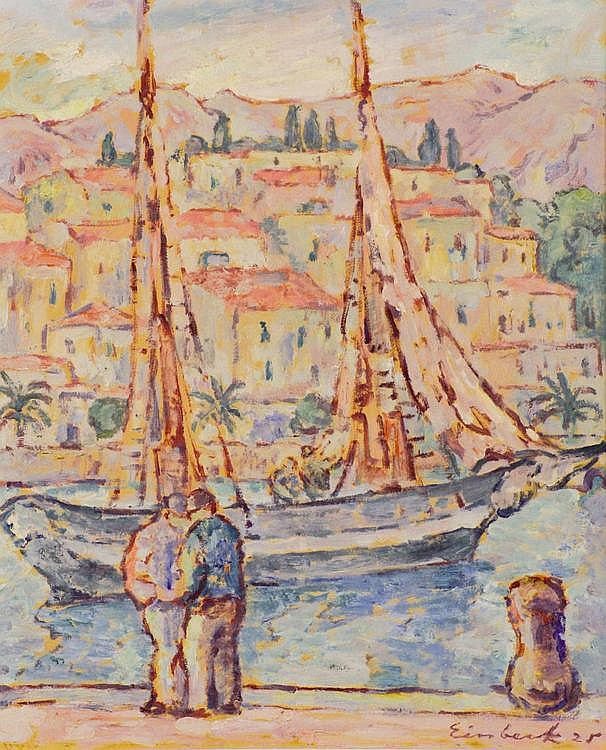 Einbeck, Georg (Georges) Fischerboot mit Figuren