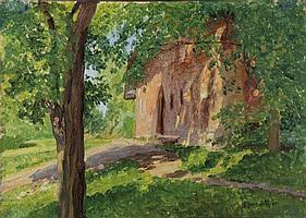 Jungwirth, Josef-Kleines Haus in baumbestandener