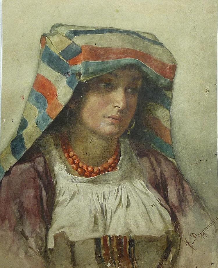 Deppermann, Henriette Bildnis einer Italienerin in