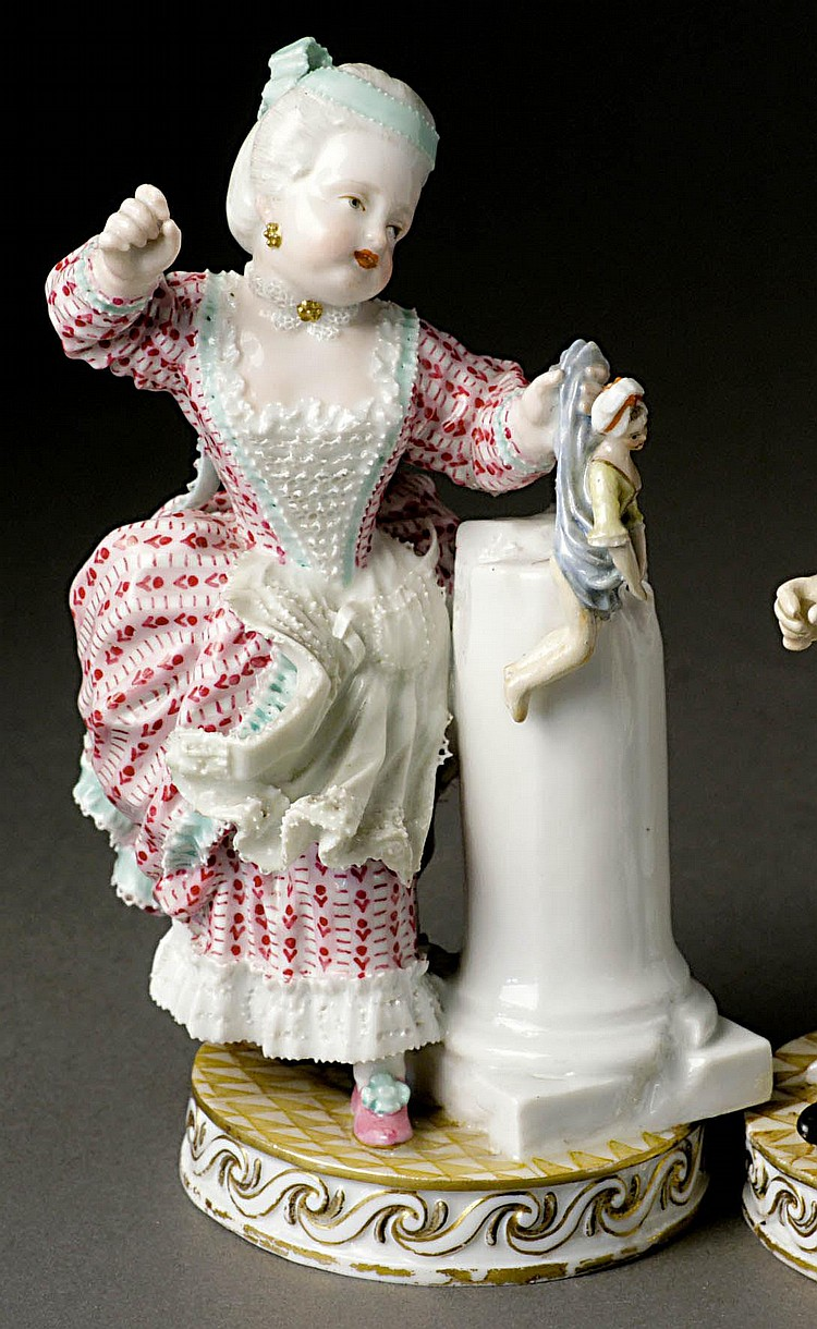 Mädchen mit Puppe Meissen, 1774-1814 Entwurf von