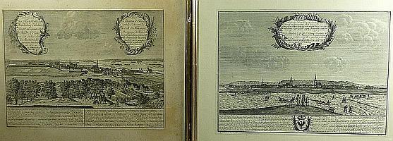 Heydt, Johann Wolfgang Zwei Ansichten von Erlangen