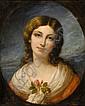 Charpentier, Auguste Bildnis einer jungen Dame, Auguste Charpentier, Click for value